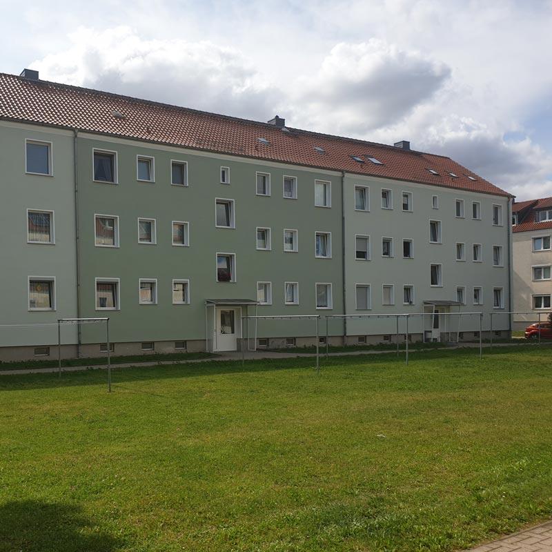 Saniertes Haus Balkone